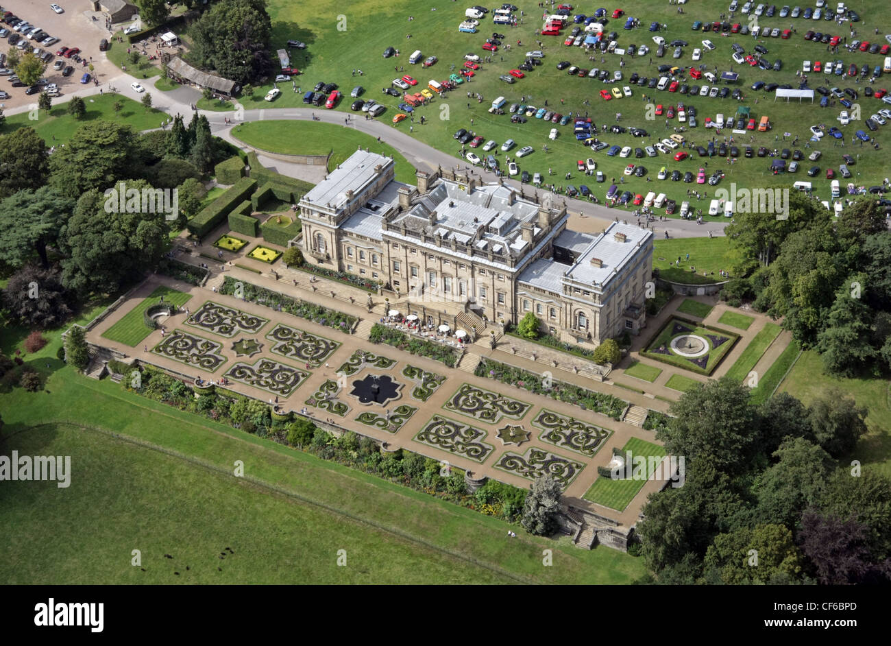 Aerial view of harewood house near leeds stock photo for See images of my house