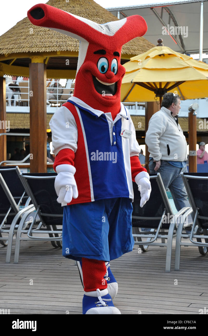 Carnival Cruise Ship Line Costumed Character Freddy The Smokestack - Cruise ship costume