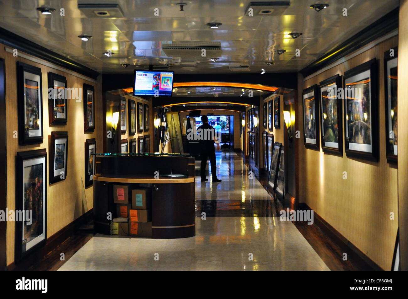 Cruise Ship Art Gallery Stock Photo Royalty Free Image