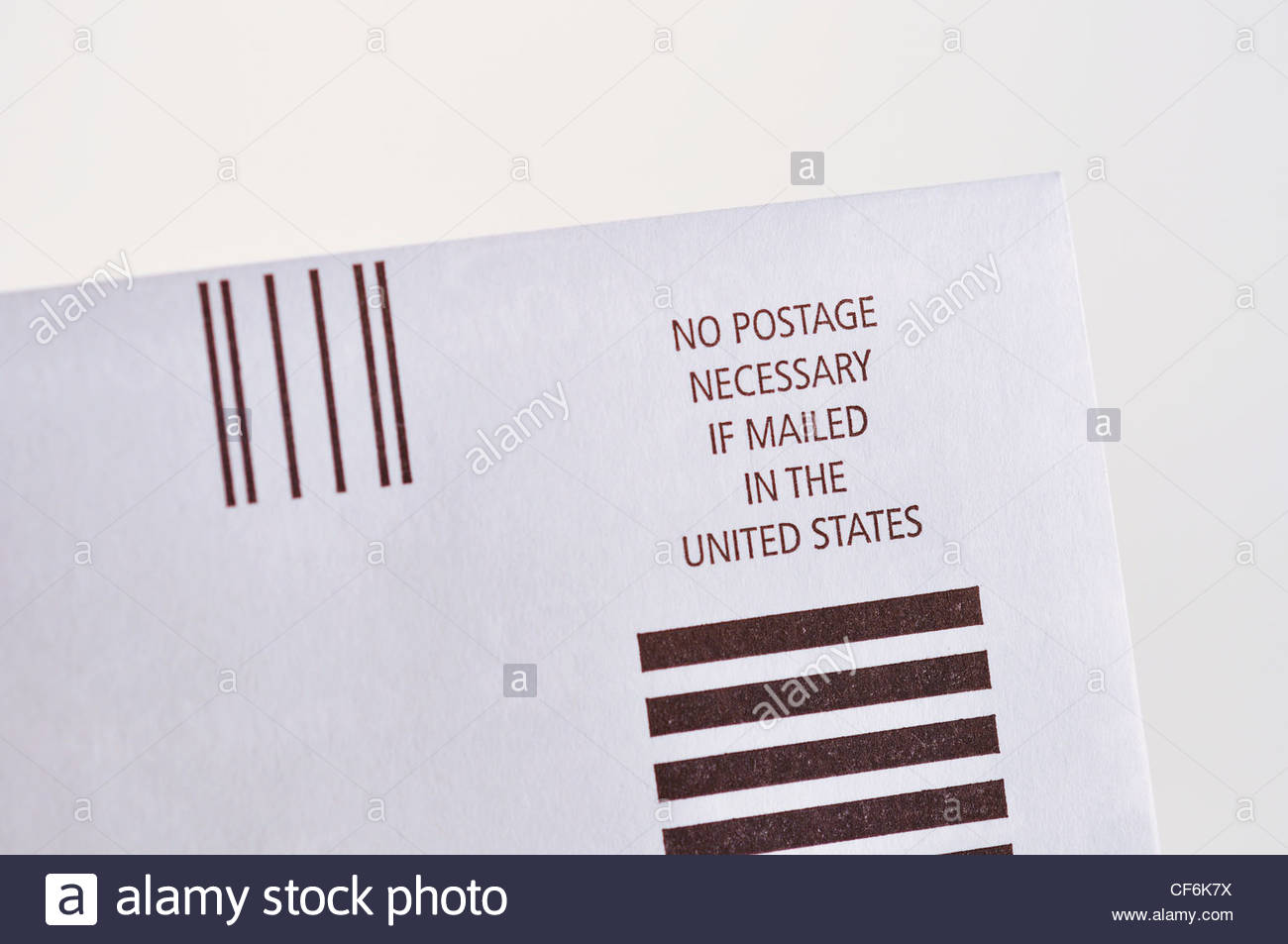 no postage necessary on letter prepaid envelope