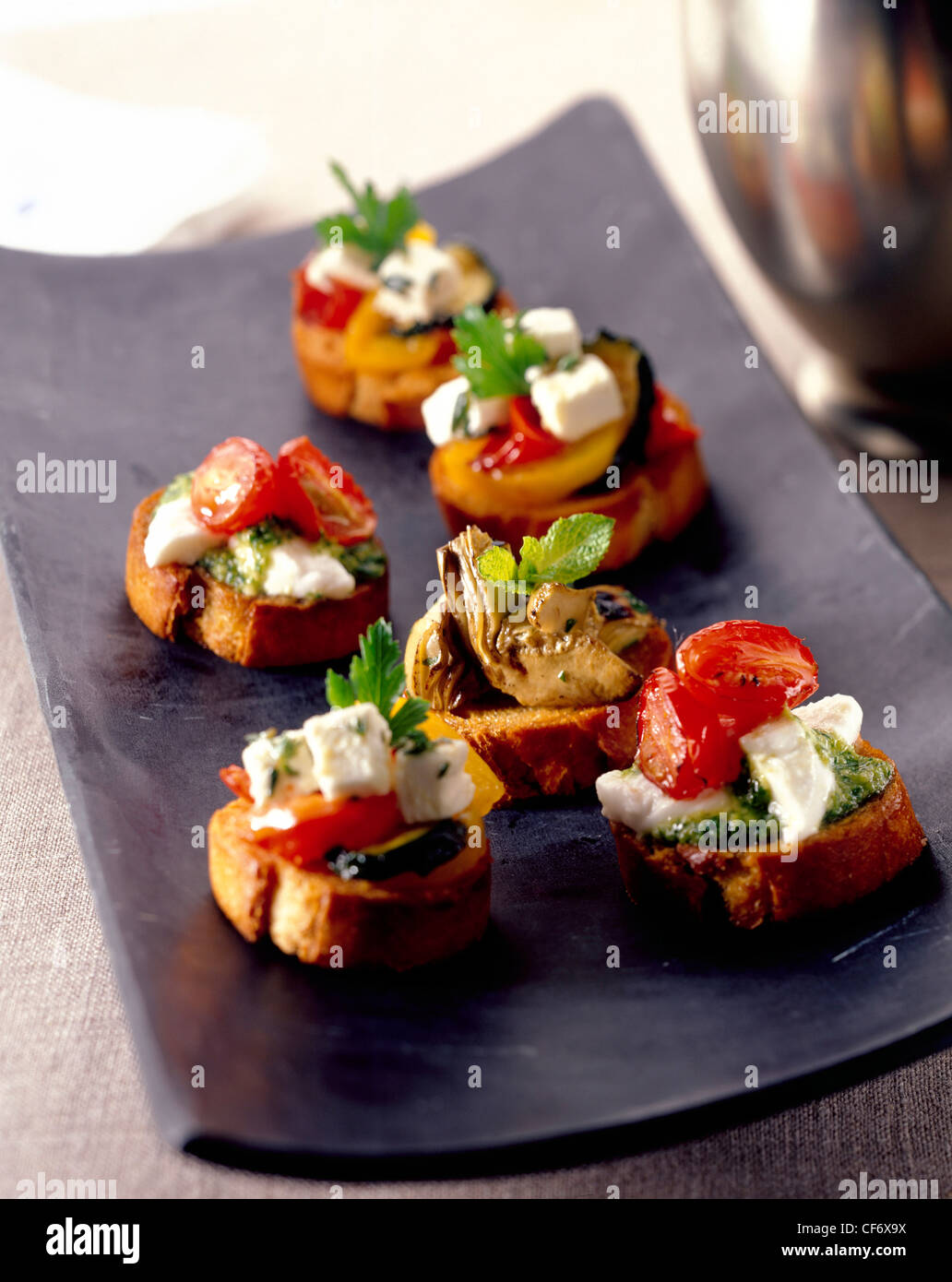 How to create the perfect canapes crostini antipasto style for Canape toppings