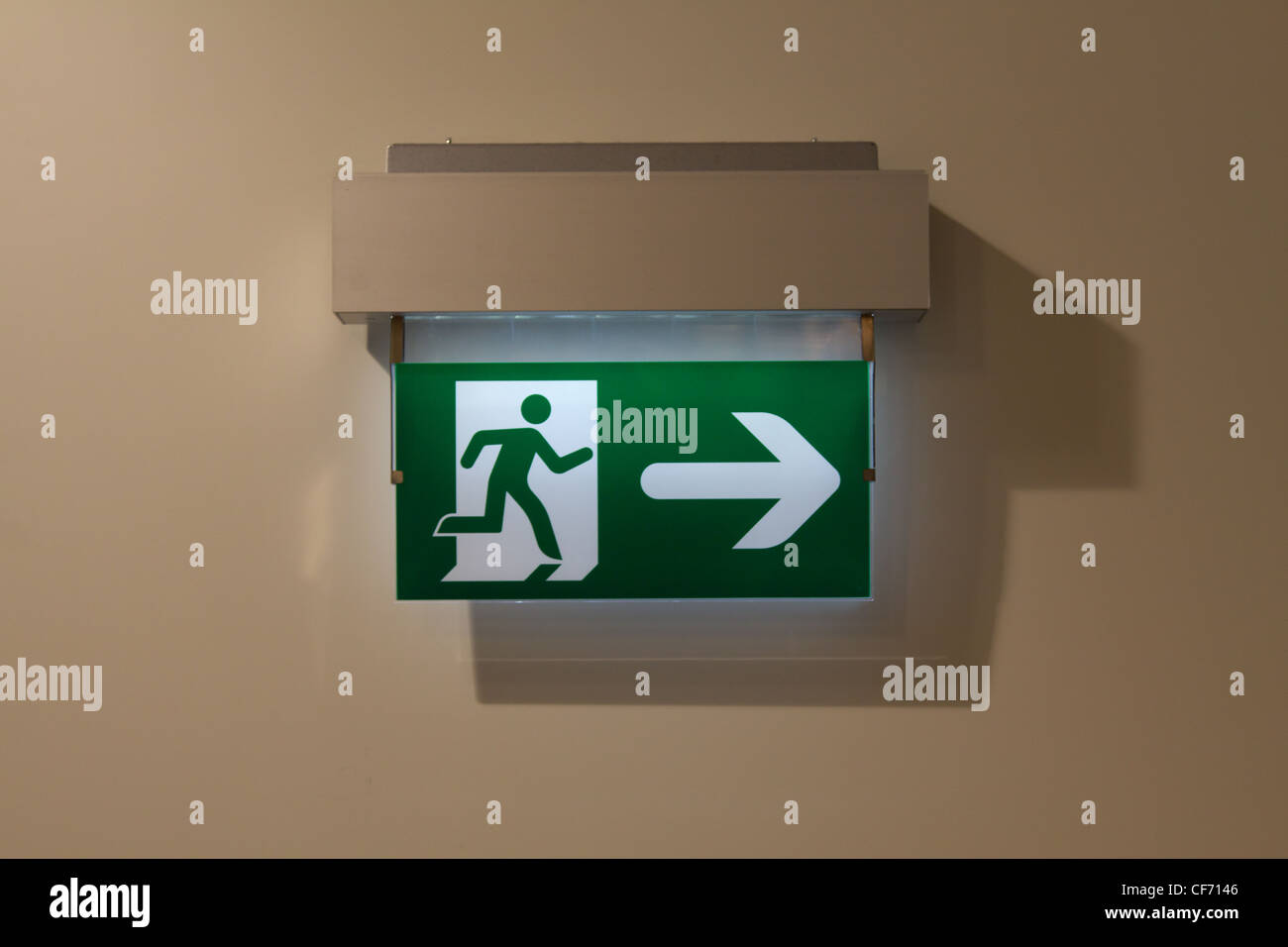 An emergency exit sign in a public building in vienna stock photo an emergency exit sign in a public building in vienna buycottarizona Images