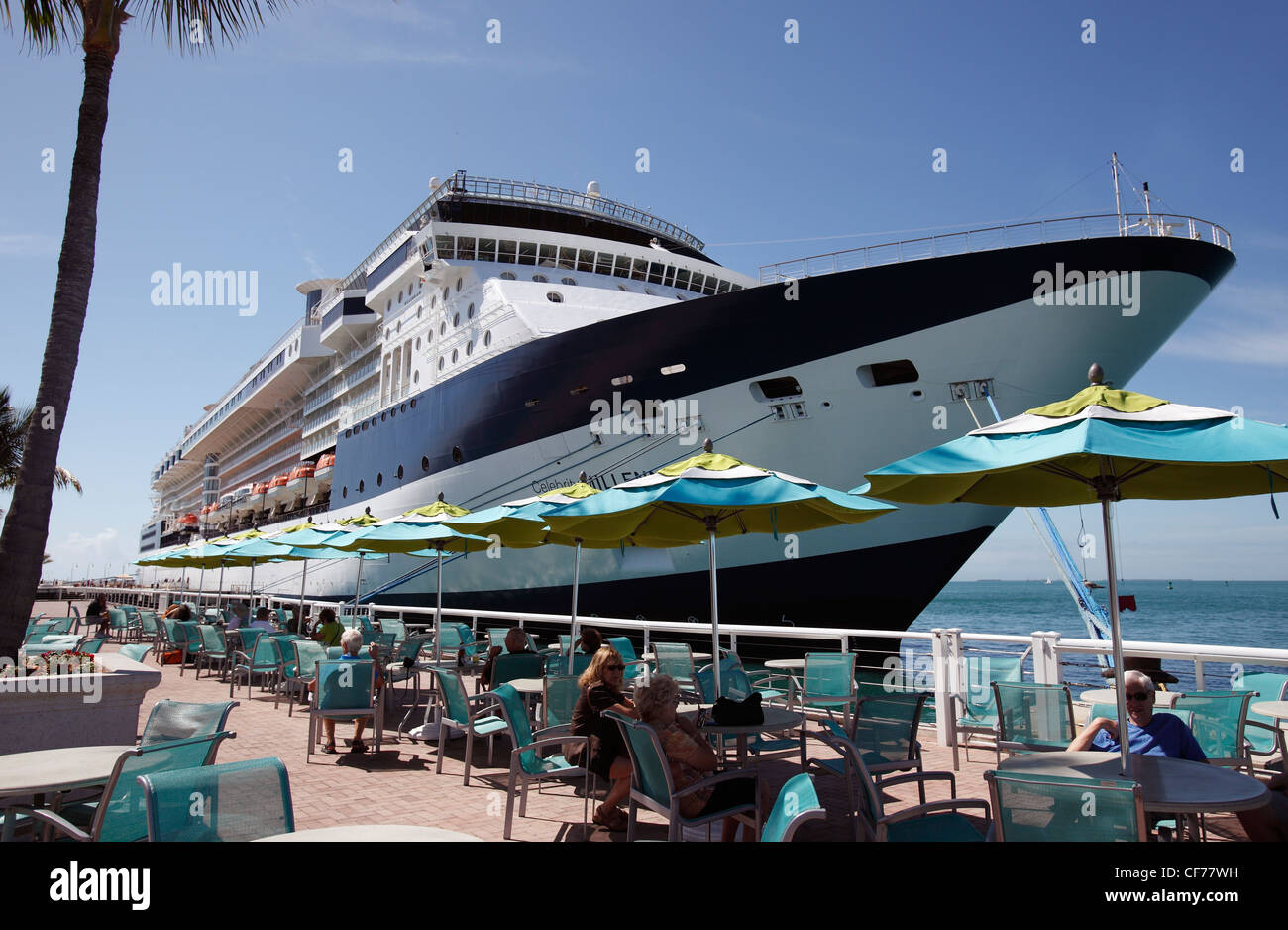 Cruise Ship At Dock Mallory Square Key West Florida Stock Photo - Cruise ship key west