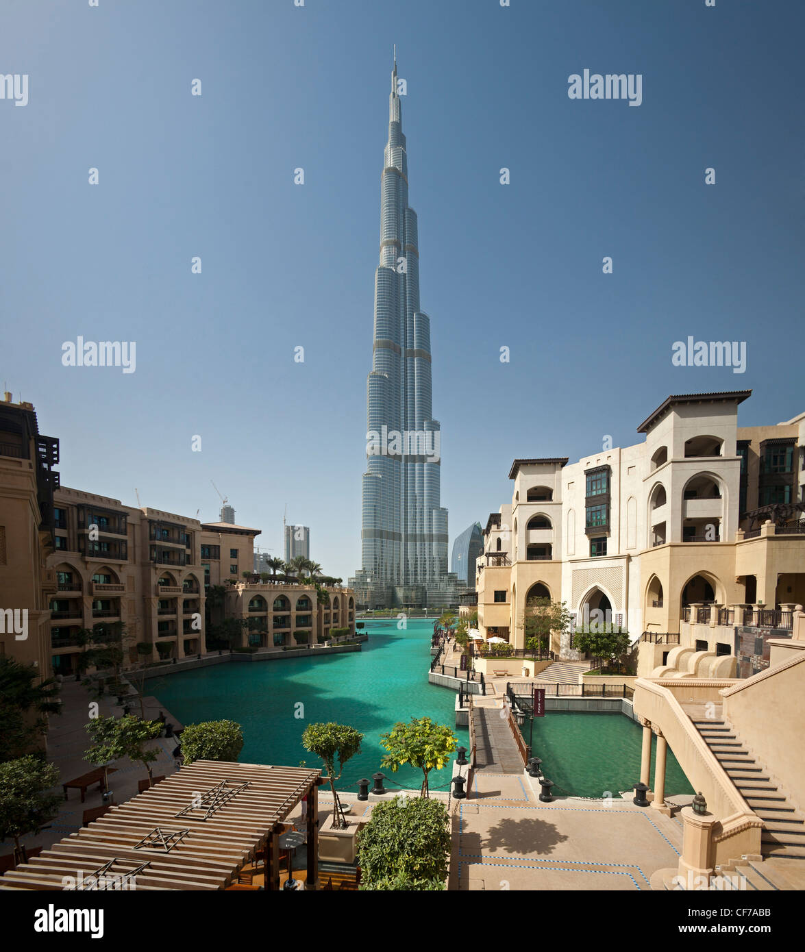 the burj khalifa tower seen from the old town island area dubai stock photo royalty free. Black Bedroom Furniture Sets. Home Design Ideas