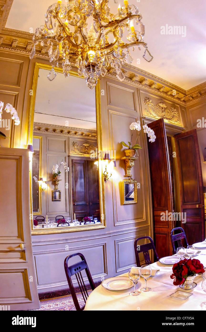 Fancy restaurant table setting - Paris France Haute Cuisine Fancy French Restaurant L Ambroisie 19th C Interior Salon Dining Room Table Setting