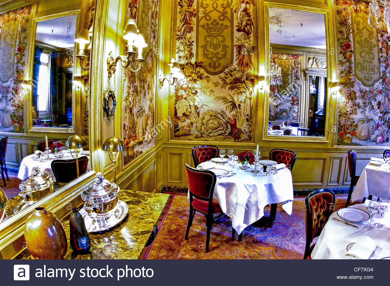 Fancy restaurant table setting - Paris France Haute Cuisine Fancy French Restaurant L Ambroisie 19th C Interior Salon Dining Room Table Setting