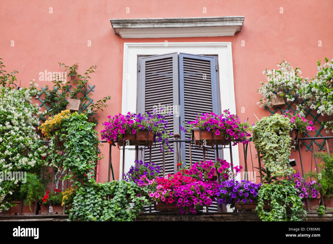 europe, italy, rome, apartment, flats, housing, balcony, flowers