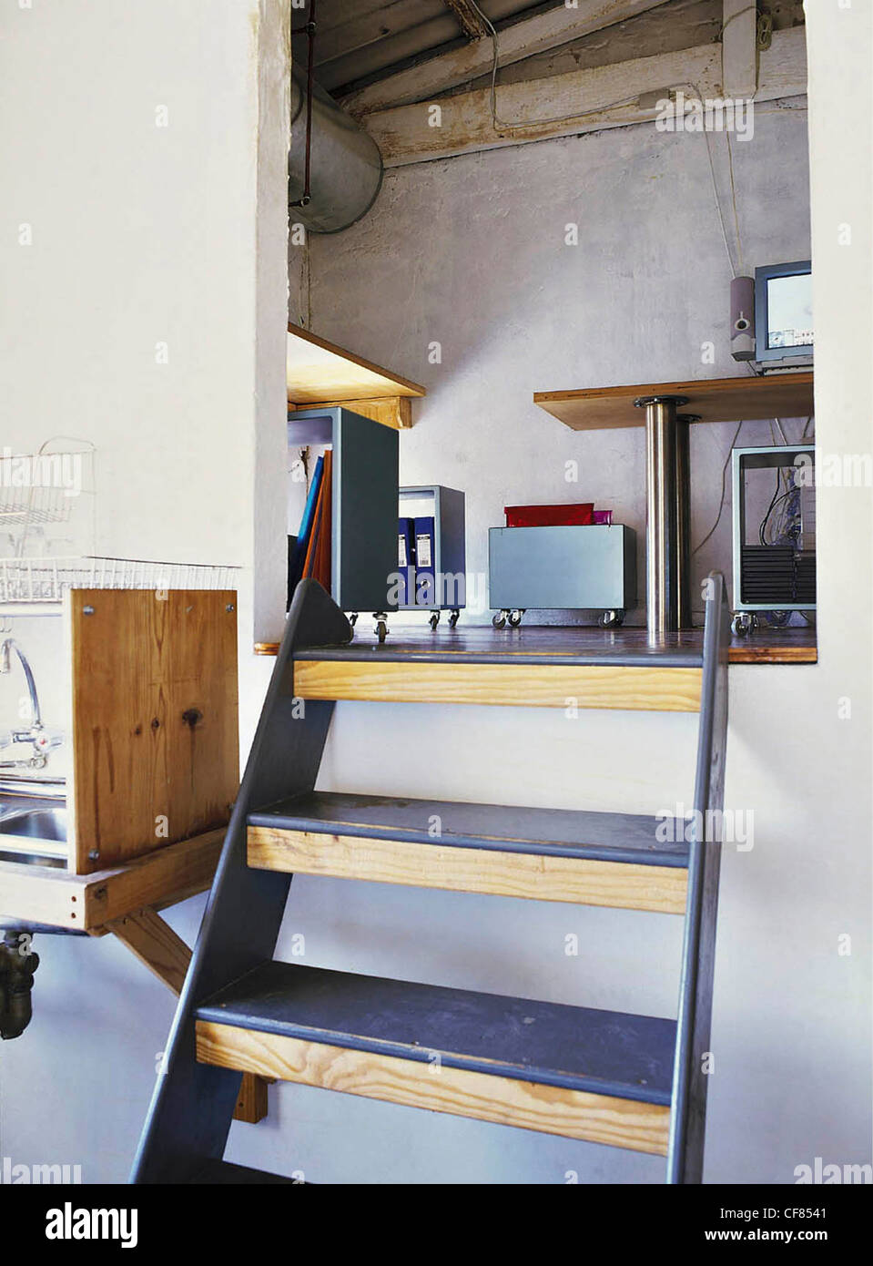REAL HOMES :Townhouse in Bo Kaap Wood and metal steps designed and ...
