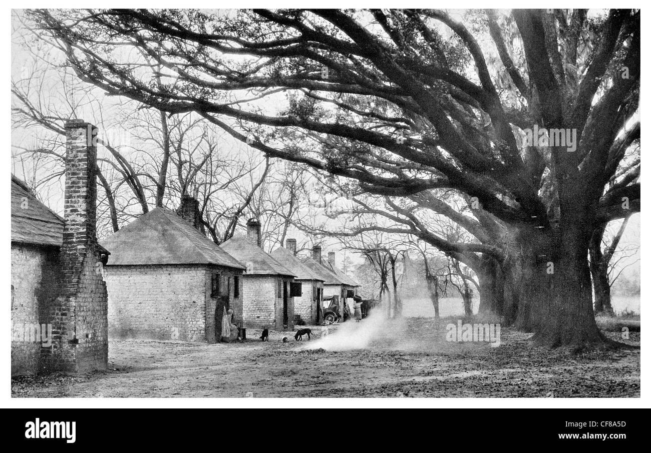 1926 Slave quarters old hermitage plantation near Savannah ...