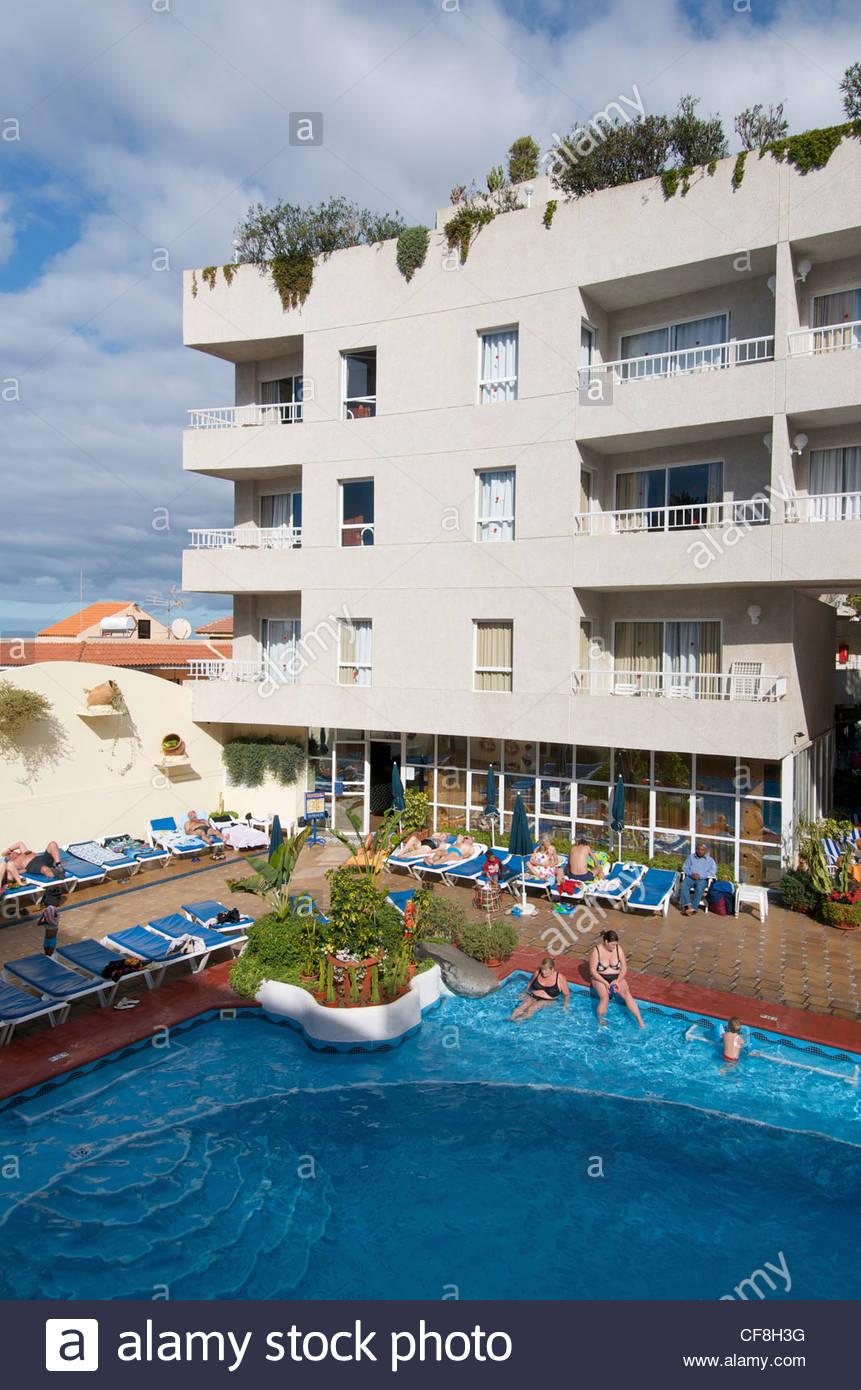 Vigilia Park Hotel Los Gigantes Tenerife Canary Islands Spain Stock Photo, Royalty Free Image ...