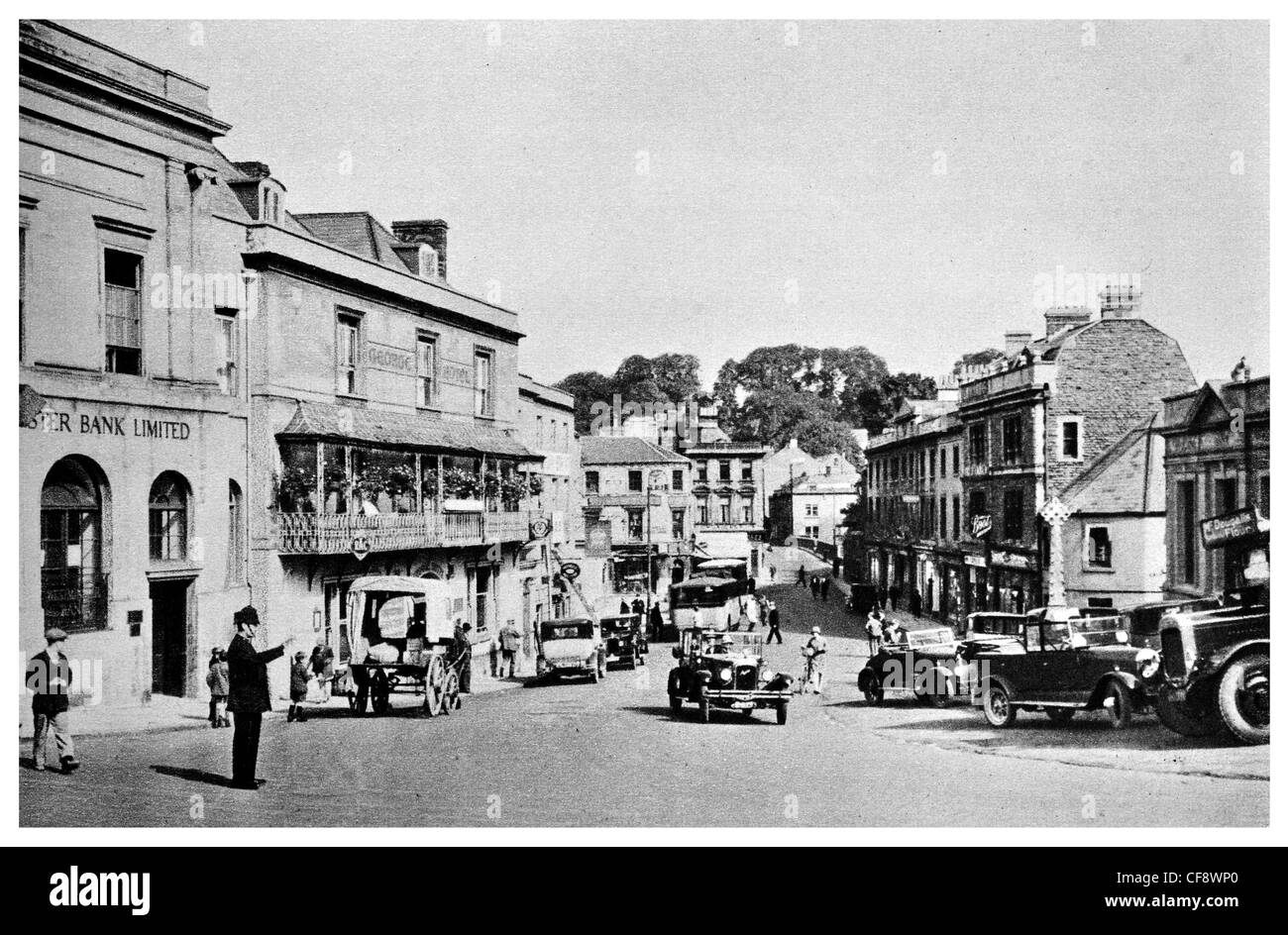 Frome Market Place classic cars car street town shop shops trade ...