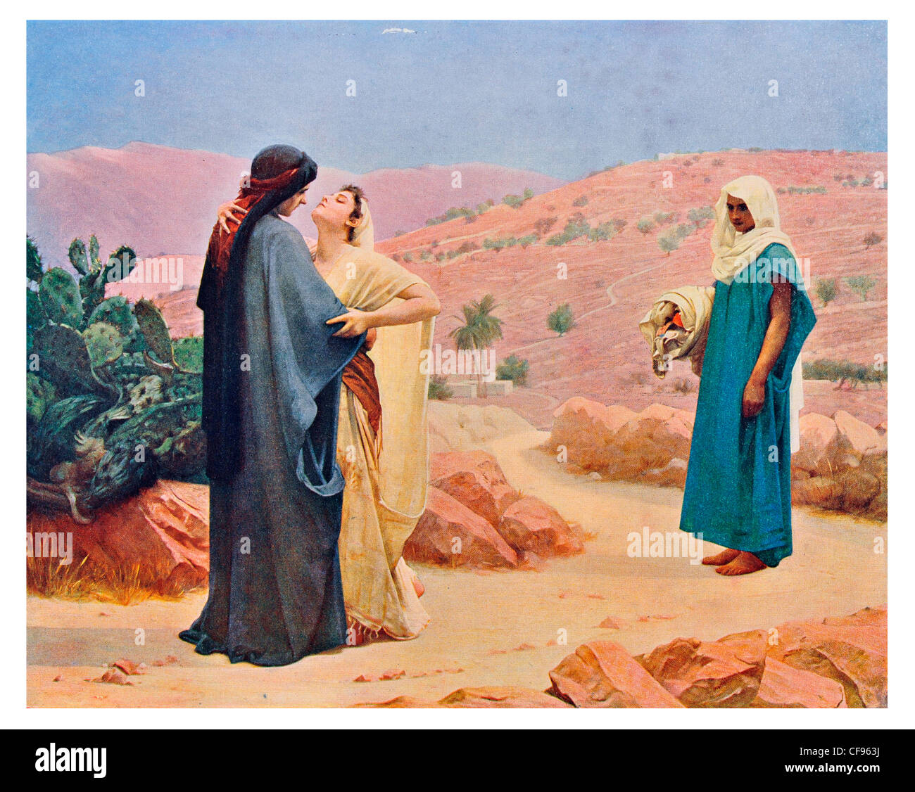 ruth and naomi by philip hermogenes calderon arab desert jerusalem