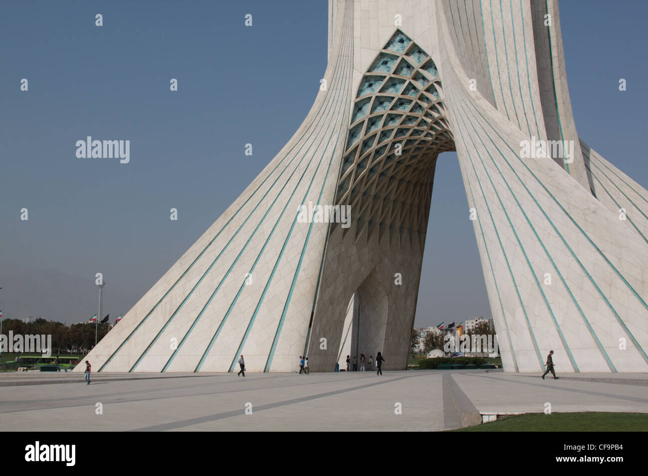 Azadi Tower with Milad Tower in the background Tehran Iran Stock ...