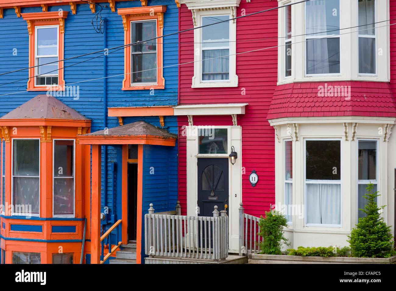 Row houses in st john 39 s newfoundland and labrador for Newfoundland houses