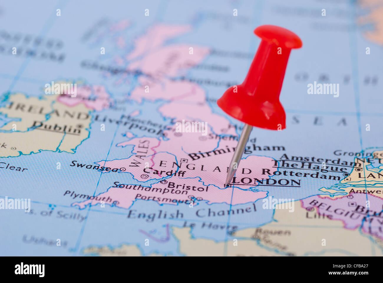 Push Pin Europe Map Stock s & Push Pin Europe Map Stock