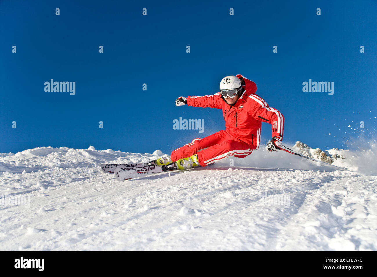 Carving skiing extreme man ski winter sports fun
