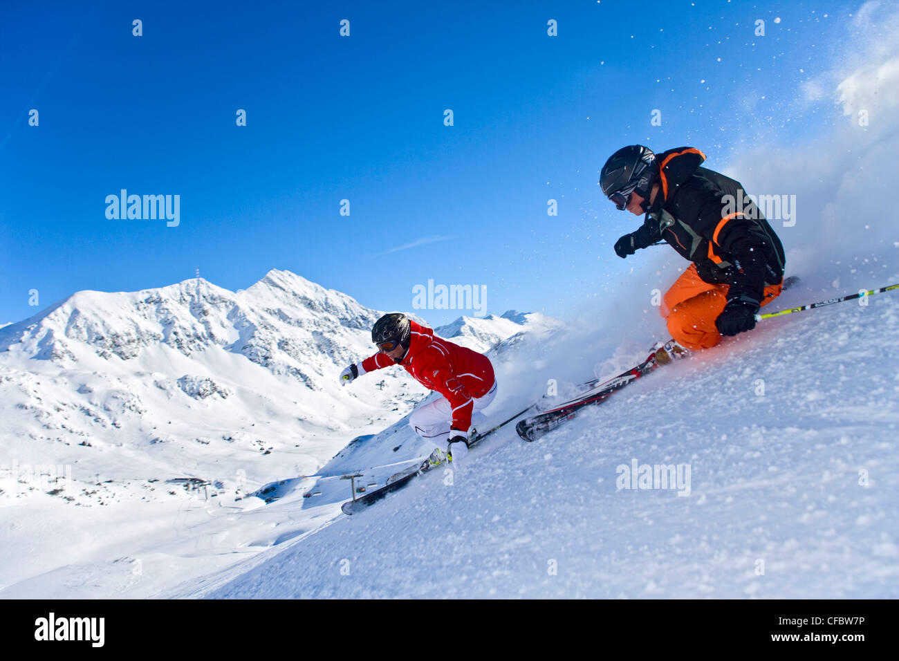 Carving skiing extreme man woman ski winter sports