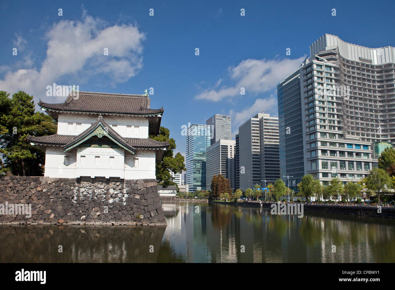 Japan, Asia, Tokyo, city, Imperial Palace, Wall ...