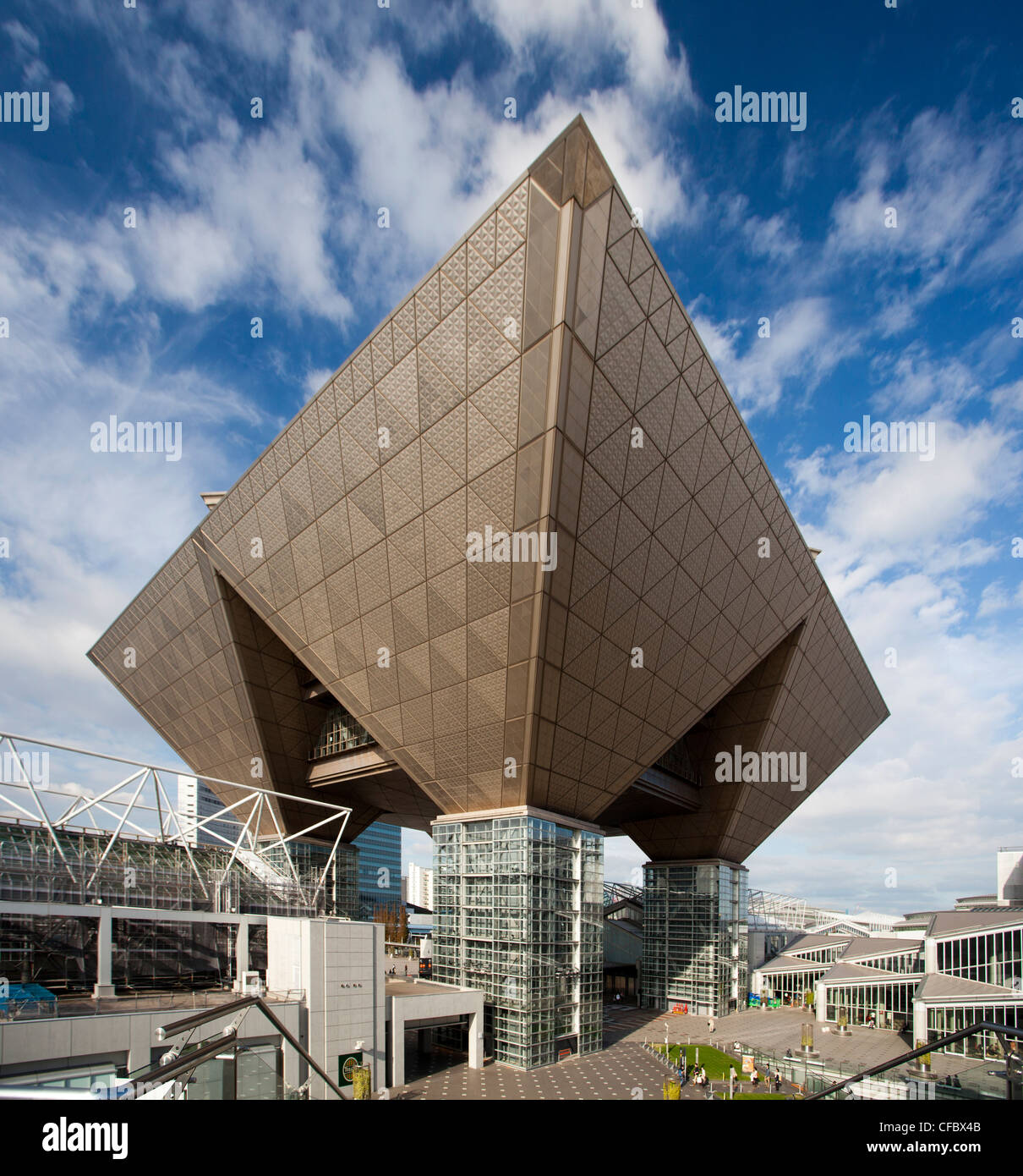 Japan asia tokyo city odaiba district big sight for Architecture tokyo
