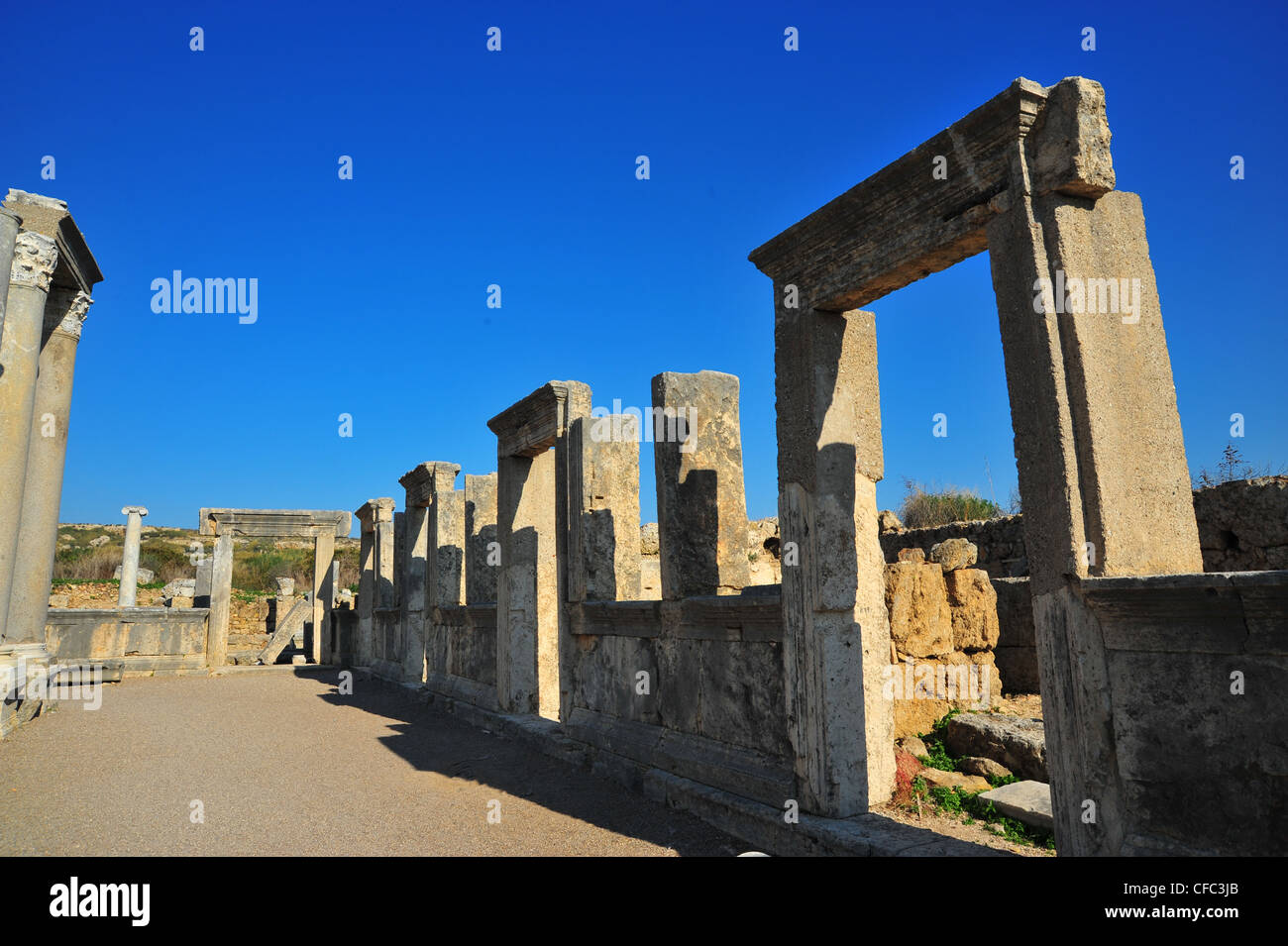 Images of the ancient city of Perge in the Antalya area of ...