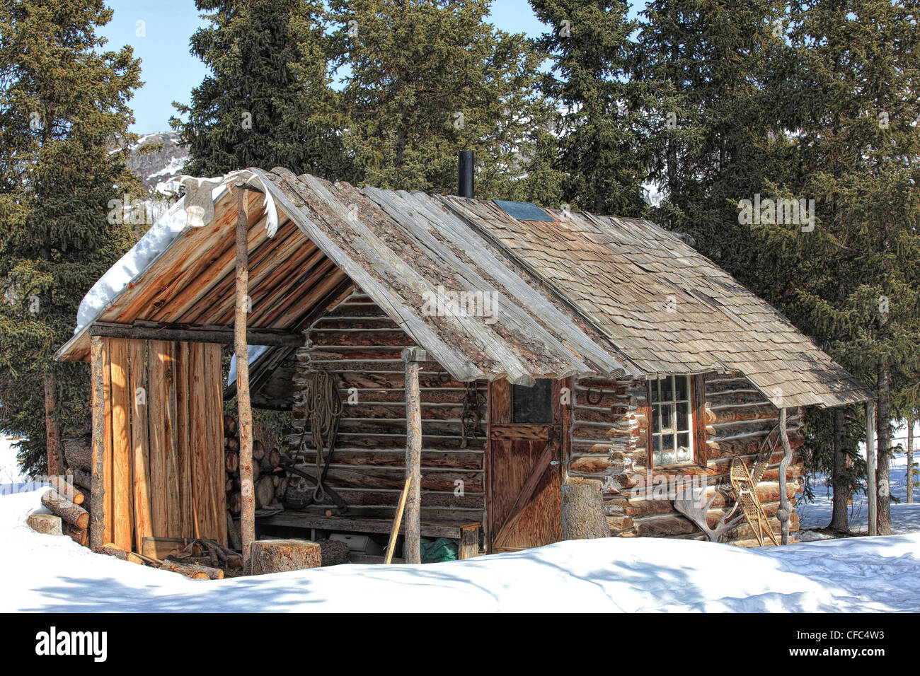 Old Cabin By The Shores Of Fish Lake Outside Of