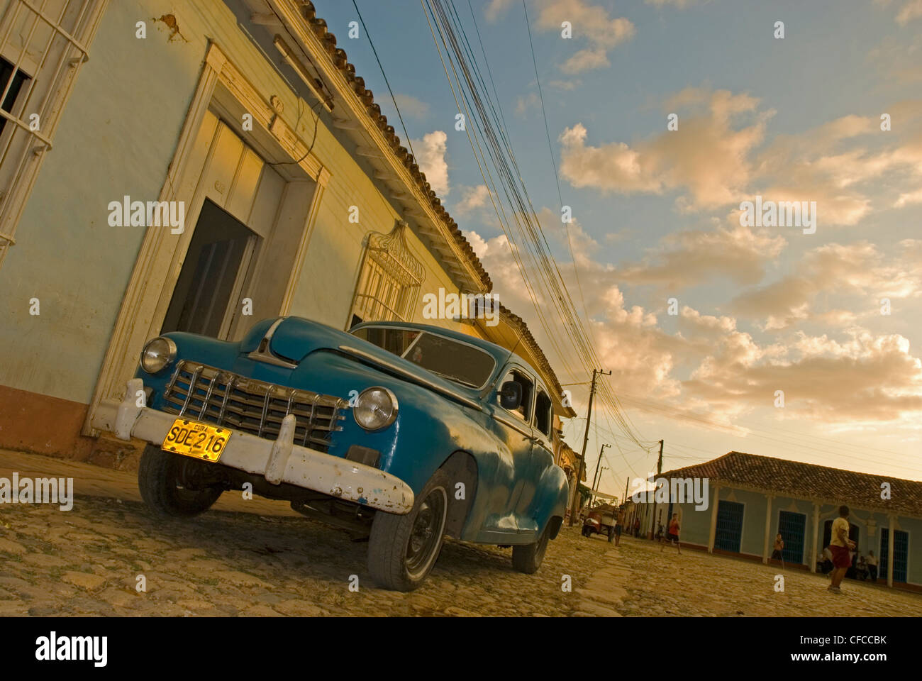 One of the old classic cars in Trinidad Cuba Stock Photo, Royalty ...