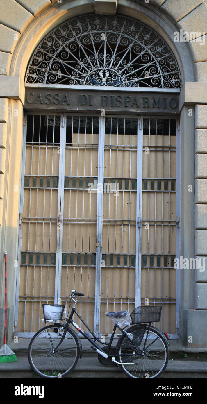Old gated door in Pisa Italy with bicycle & Old gated door in Pisa Italy with bicycle Stock Photo Royalty ...