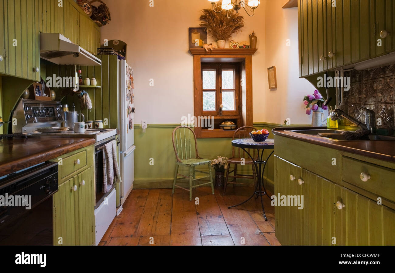 The Kitchen Room In An Old Circa 1850 Canadiana Cottage