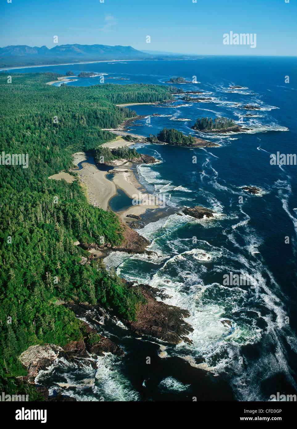 Aerial Of Vancouver Island, Pacific Rim National Park ...