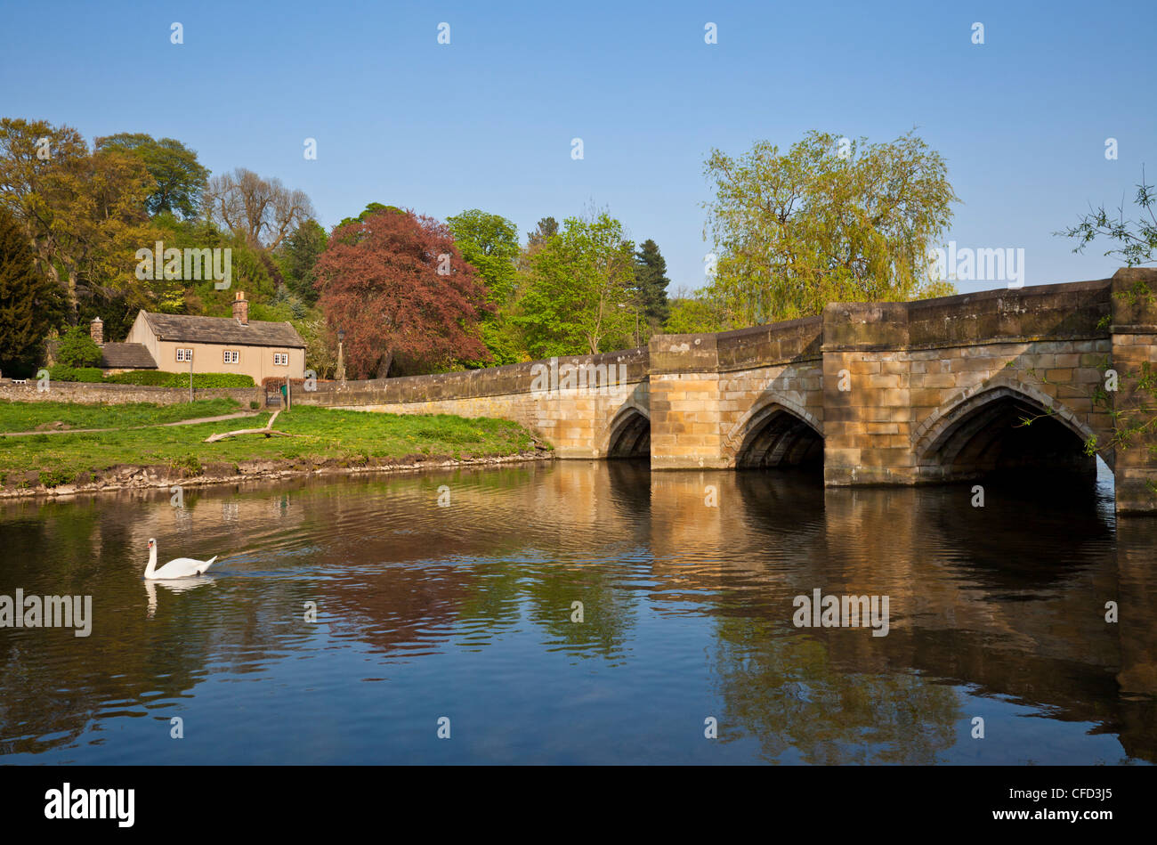 Bakewell United Kingdom  city photos : The Bridge Over The River Wye, Bakewell, Peak District National Park ...