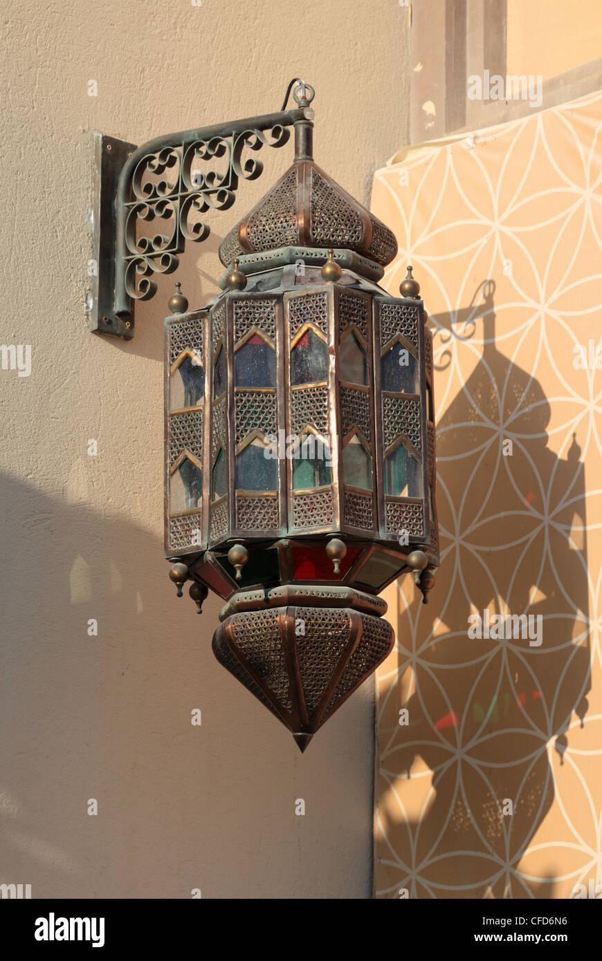 Traditional arabic lantern in Doha, Qatar Stock Photo, Royalty ... for Traditional Arabic Lamp  146hul