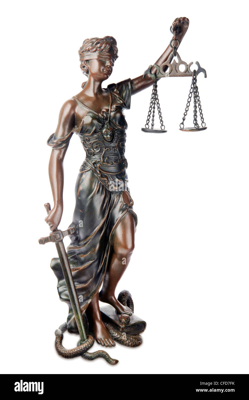 Statue Of Themis Mythological Symbol Of Justice Stock Photo