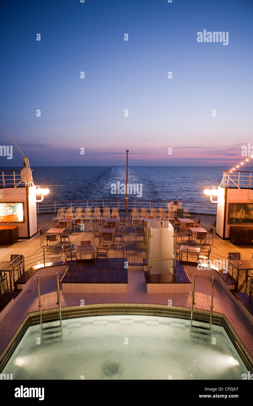 Swimming Pool And Aft Deck Aboard Cruise Ship MS Astor Transocean - What is aft on a cruise ship