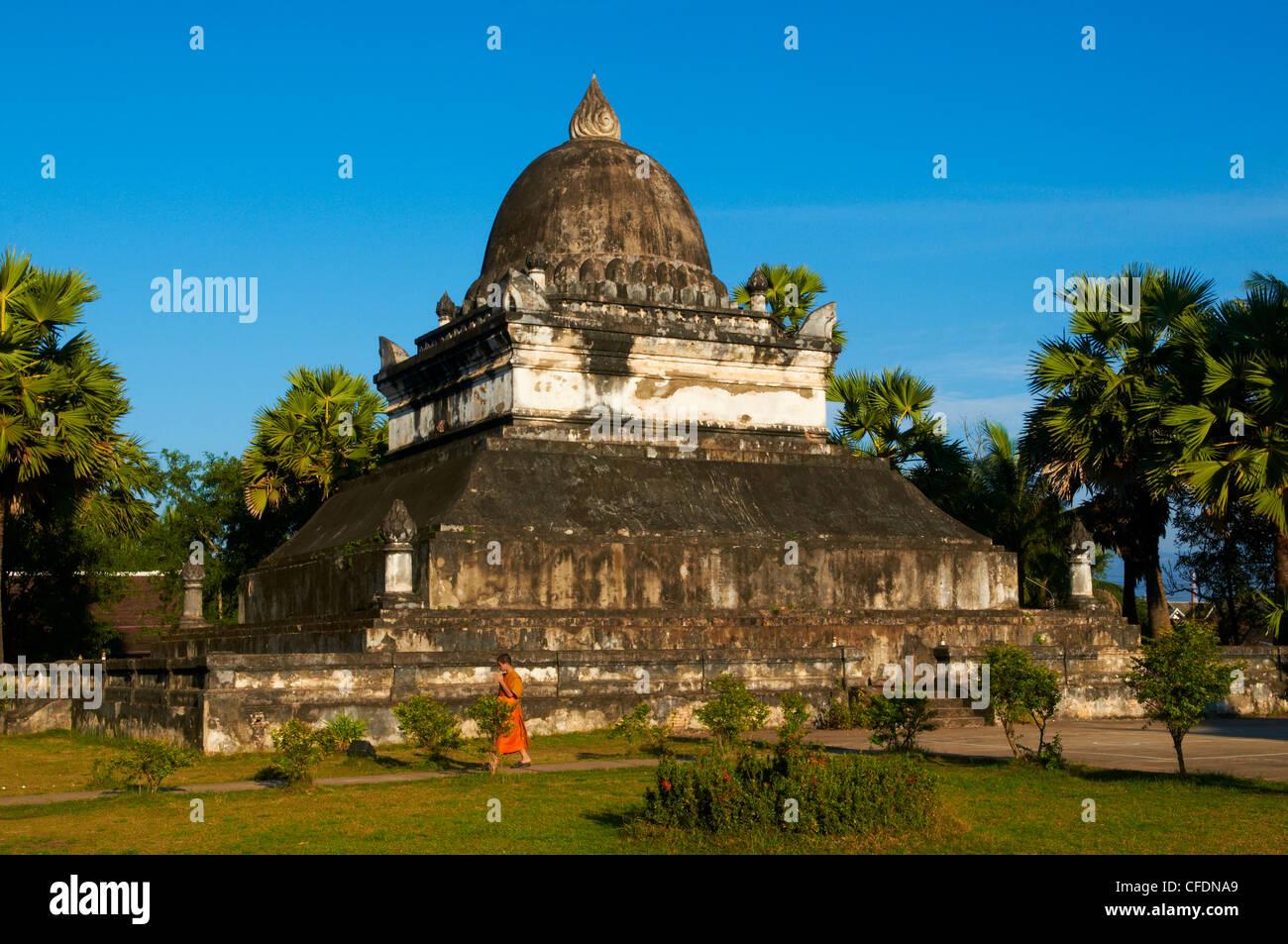Vat Aham Luang Prabang UNESCO World Heritage Site Laos Indochina Stock Ph