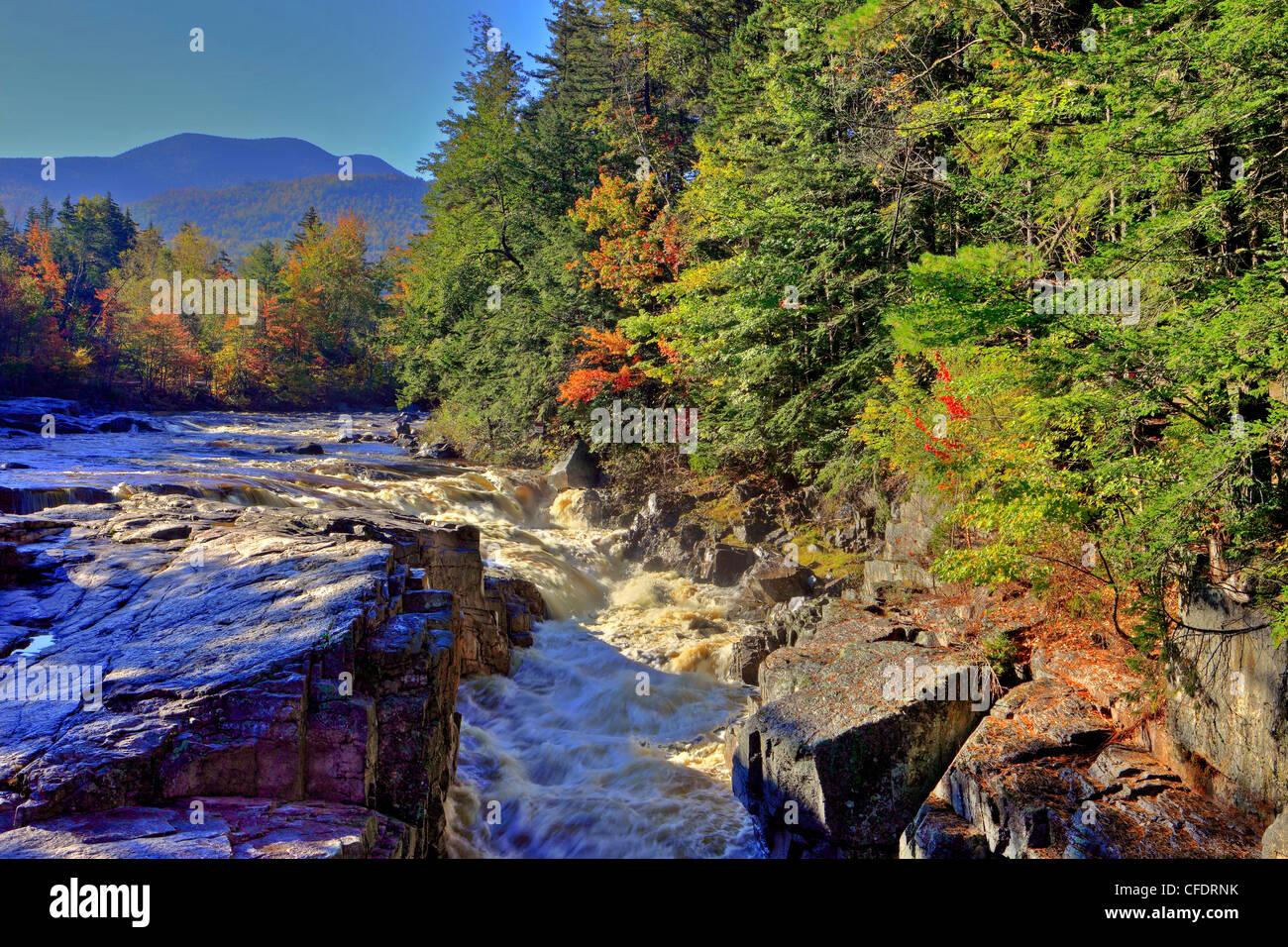 Rocky Gorge Swift River Along Kancamagus Highway White - Mountains in the united states