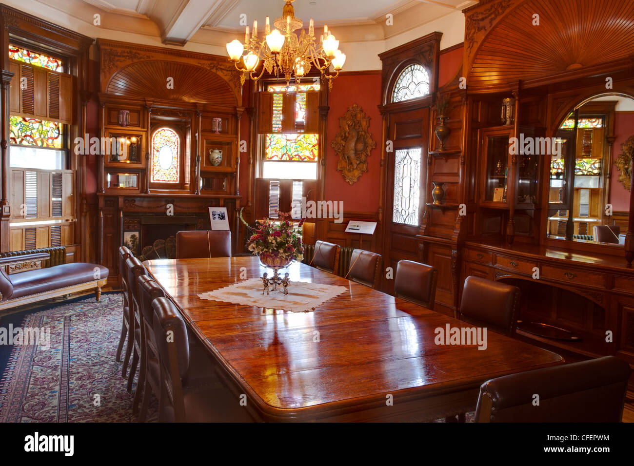 Interior Room Of Craigdarroch Castle Built For Robert
