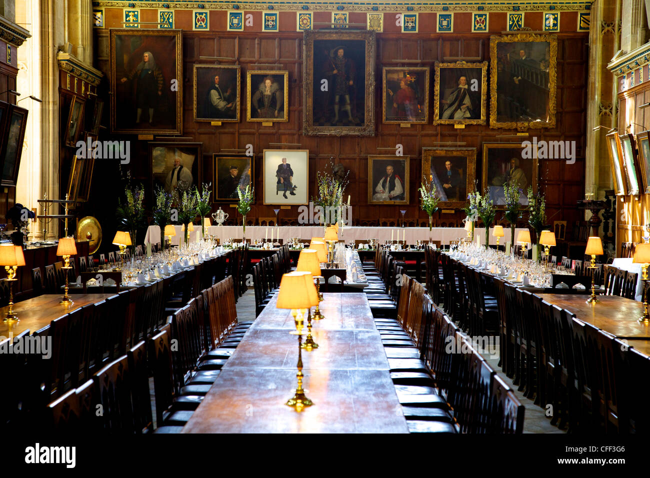 Great Hall Dining Room At Christ Church College Oxford University