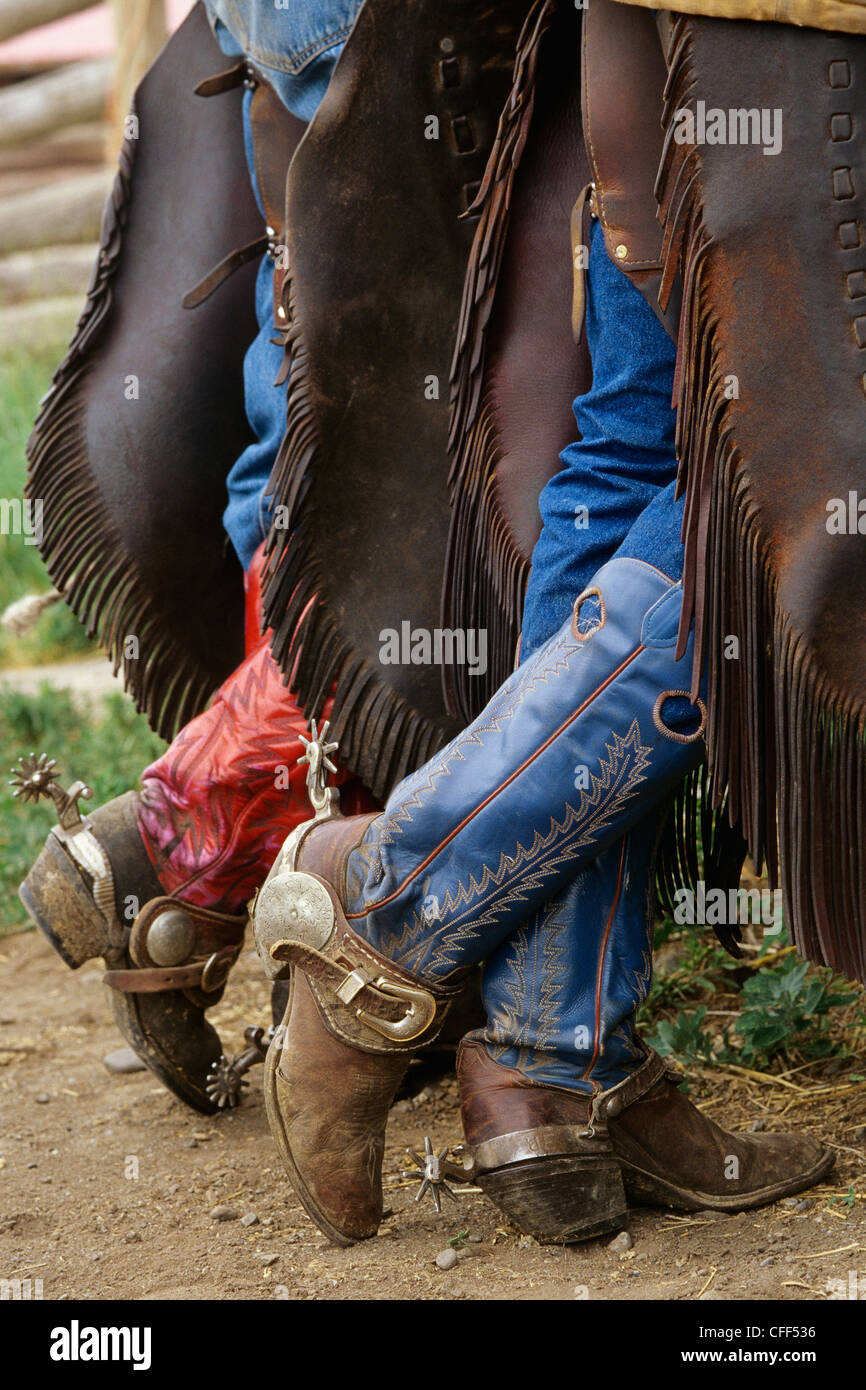 Cowboy Boots And Spurs Alkalai Ranch British Columbia