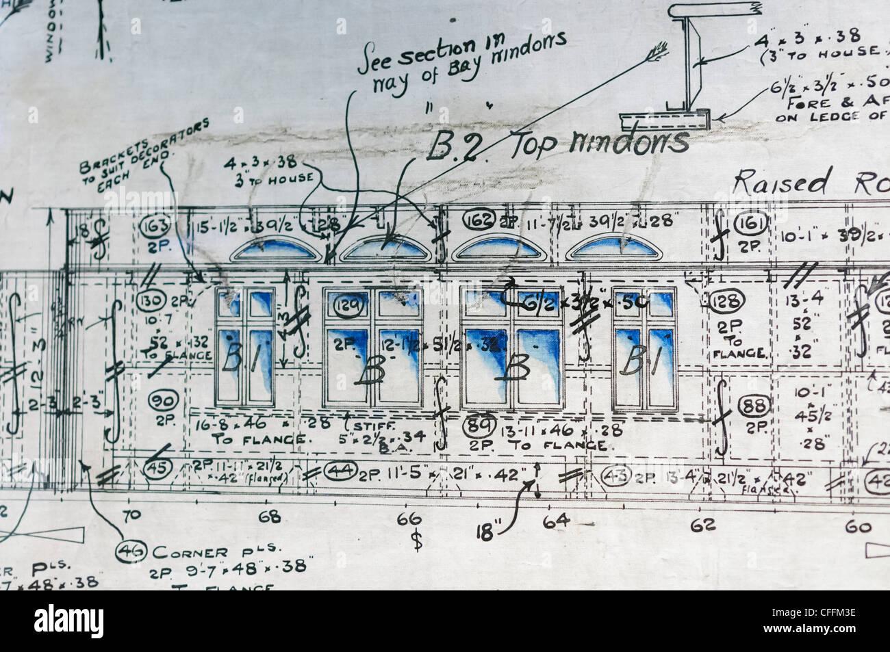 Titanic Floor Plan Original Engineering Drawing Plans Of The Promenade Deck