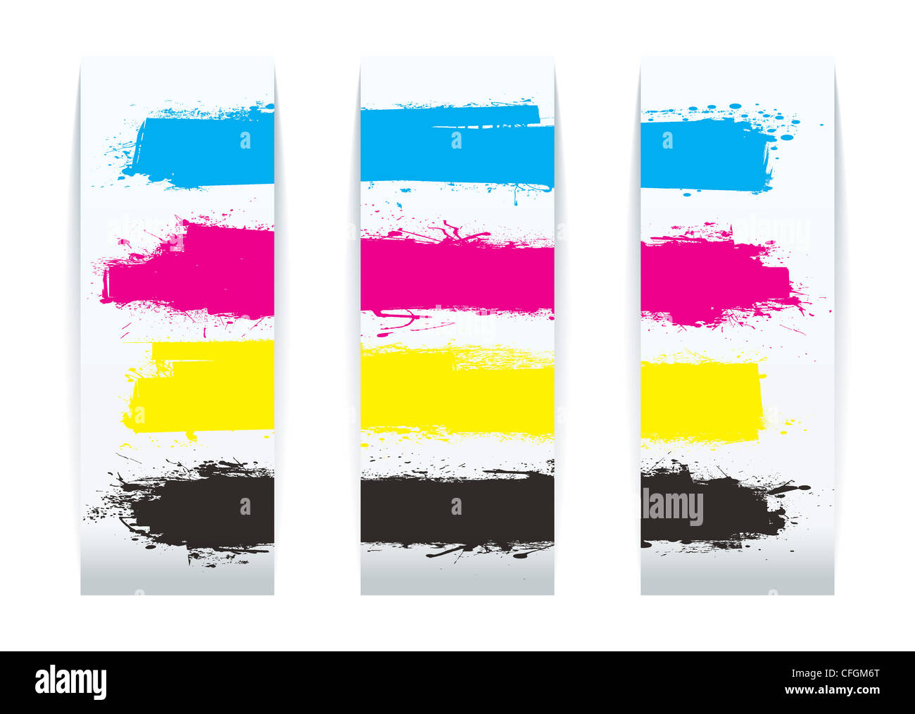 Design elements banner - Four Colour Paper Banner Cards Design Elements With Copy Space