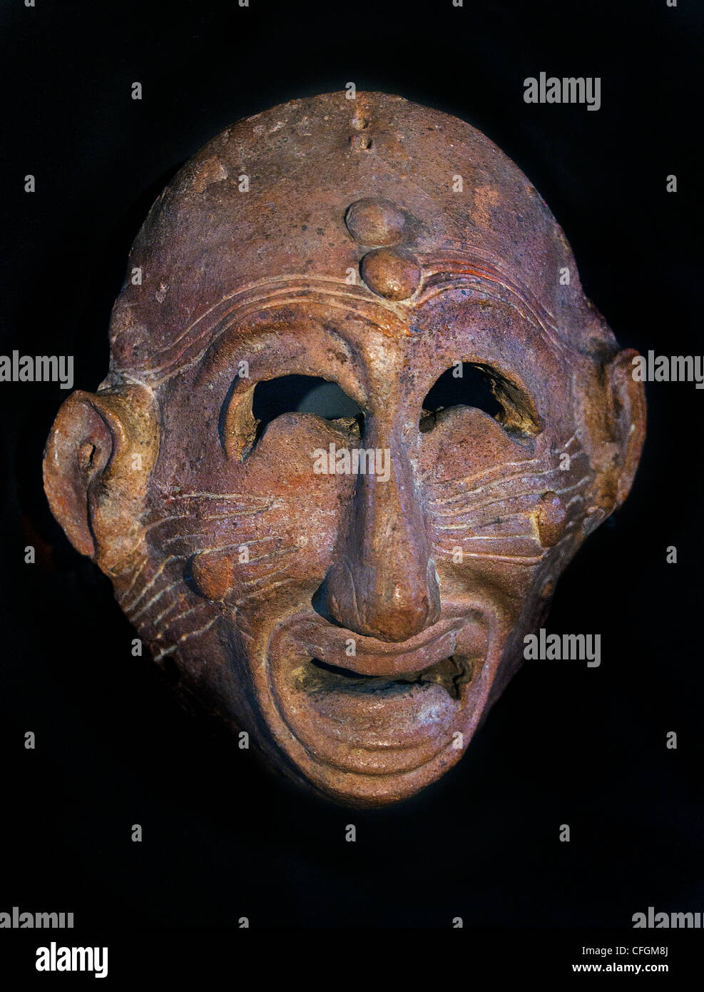 Terracotta Bad grimacing apotropaic mask away bad luck terracotta late 7 6th