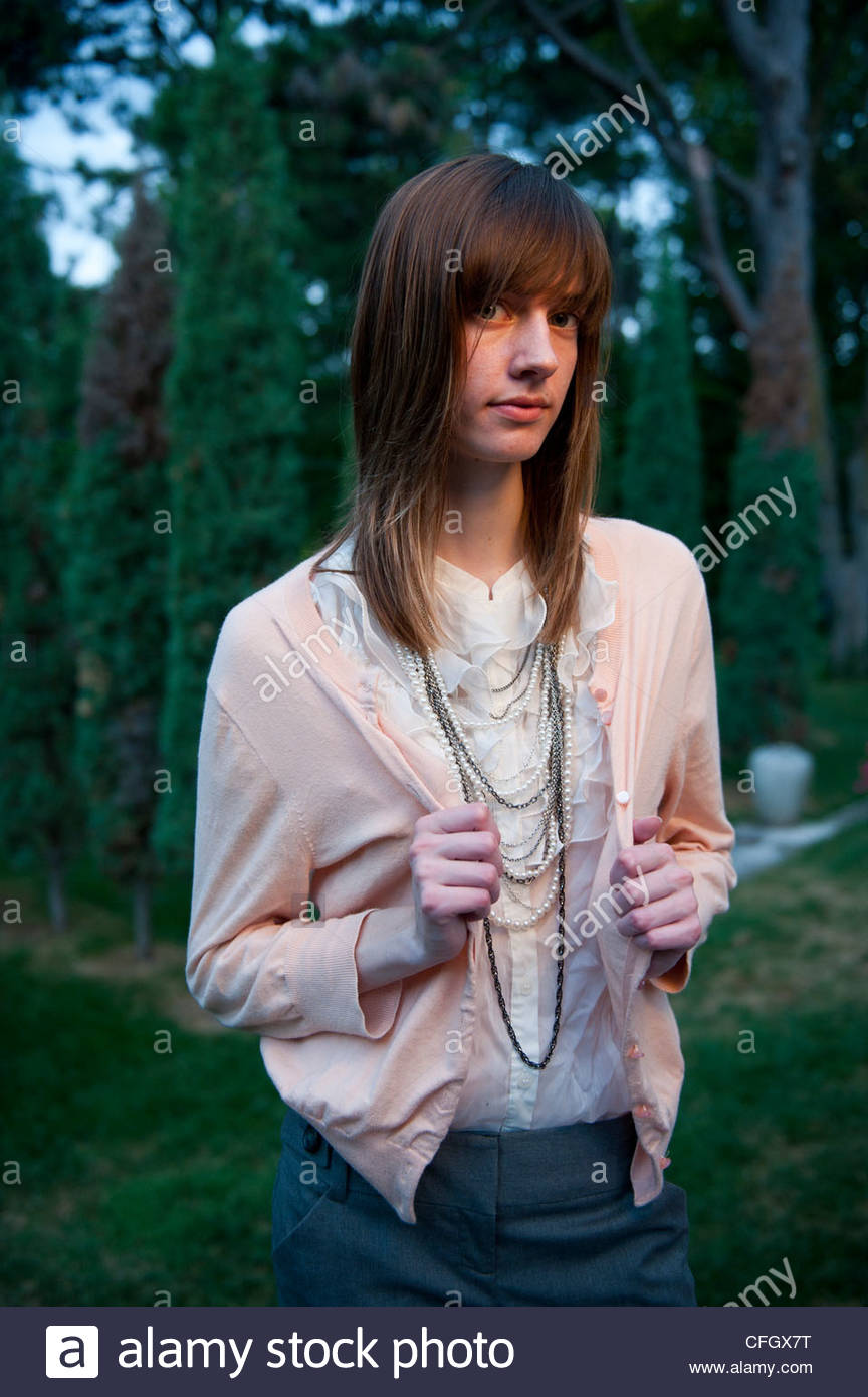 Portrait Of A 17-year-old Girl In Lincoln, NE Stock Photo