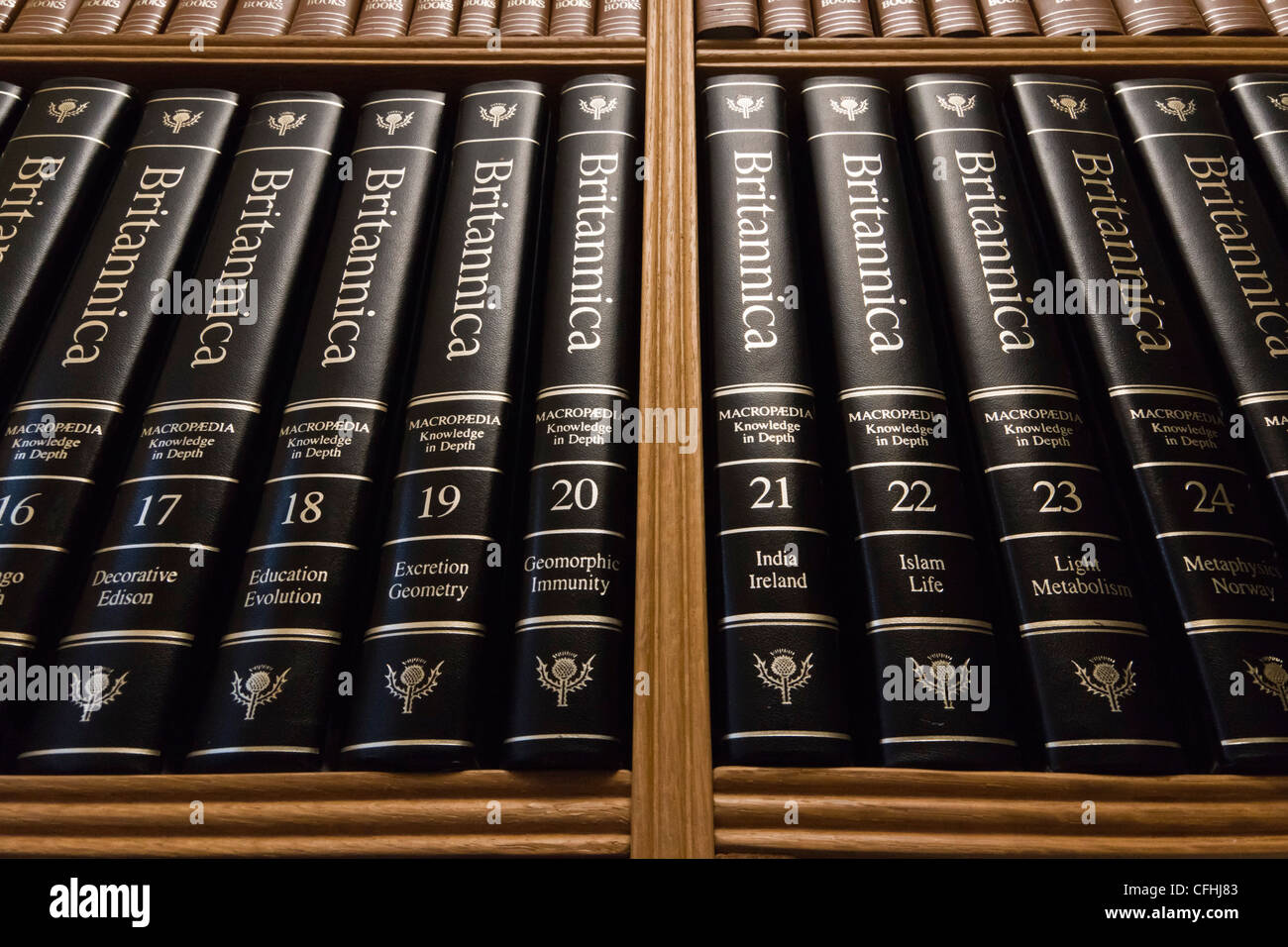 home library shelves with th century edition () of  - home library shelves with th century edition () of encyclopediabritannica in classic binding