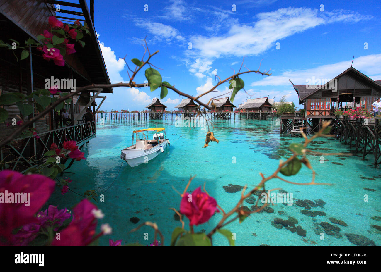 Breathtaking Photos A Breathtaking View Of Kapalai Resort Located In Semporna Island