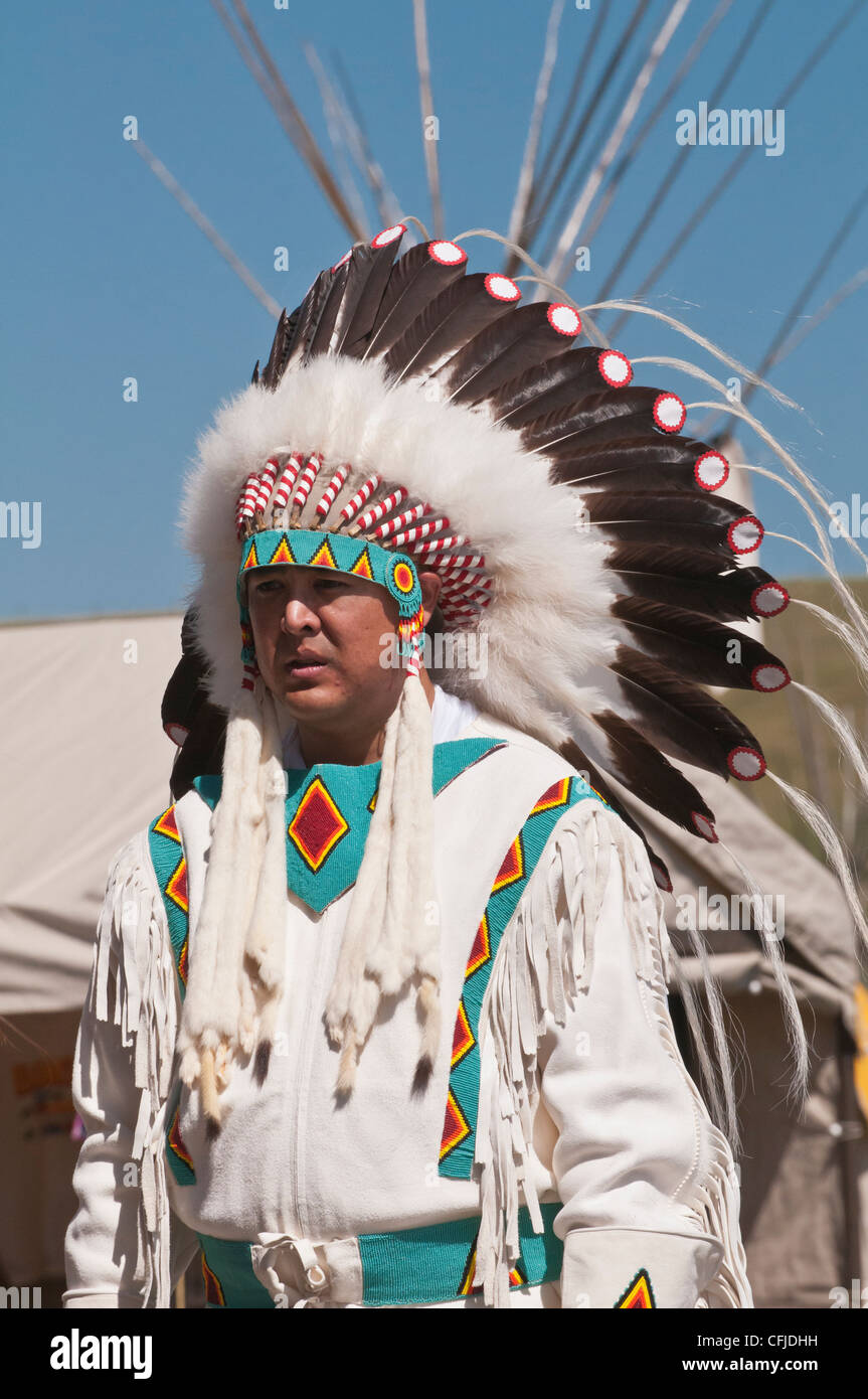 Blackfoot Man In Traditional Regalia Siksika Nation Pow