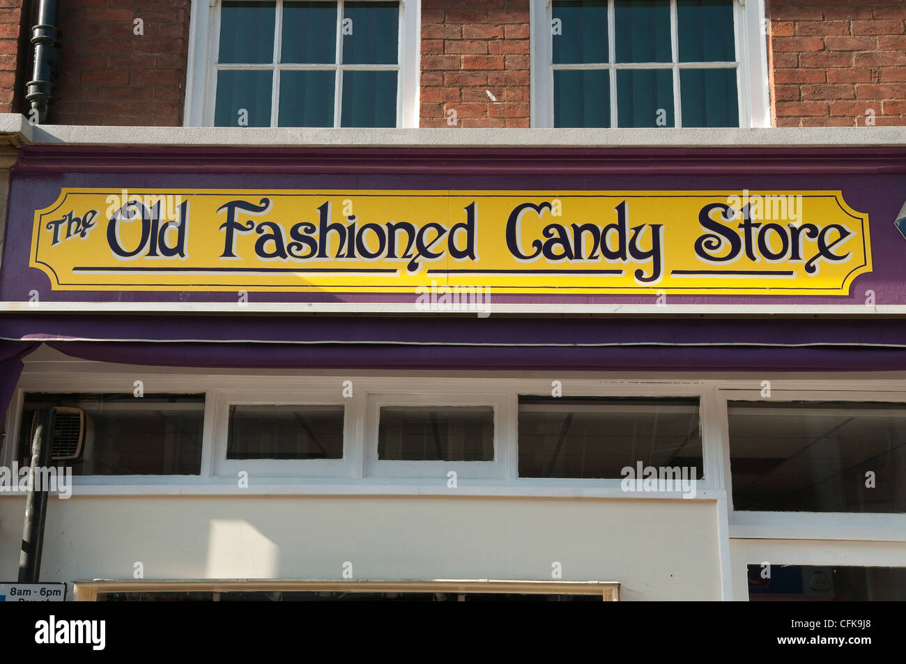 old fashioned candy store shop sign ipswich suffolk uk