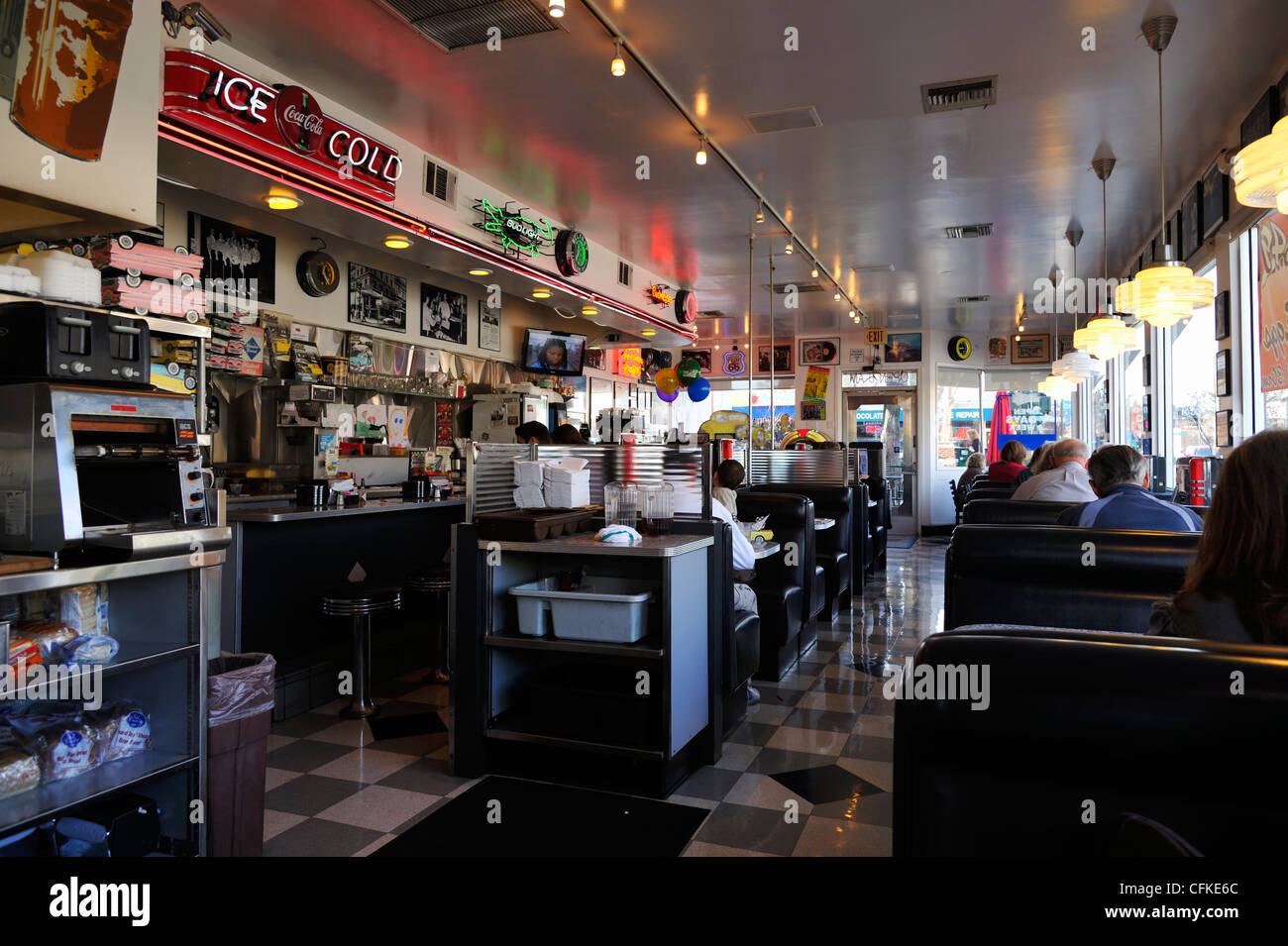 Mels Original Burger Restaurant Walnut Creek Ca Stock