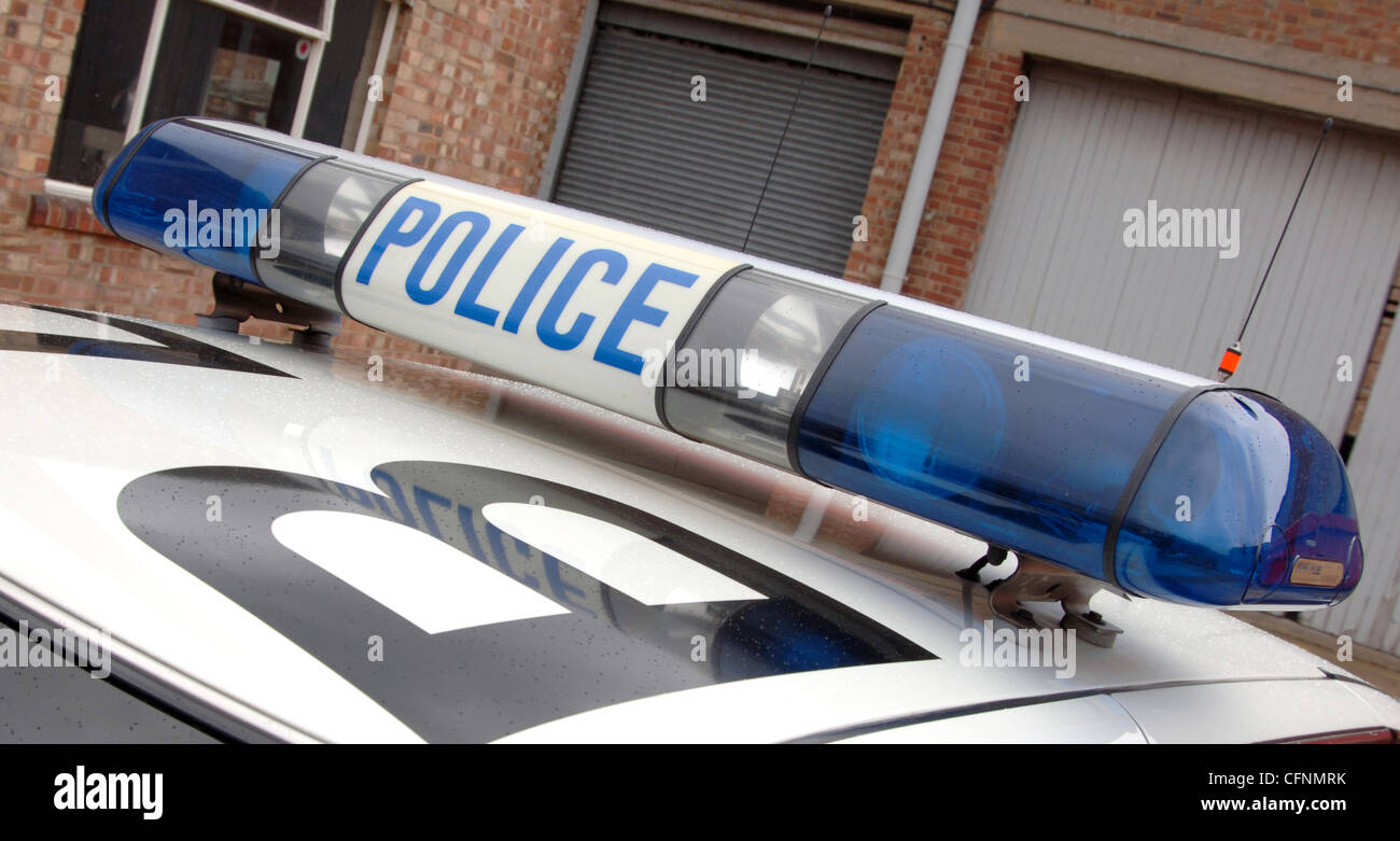Police car light bar british cop blue lights stock photo police car light bar british cop blue lights mozeypictures Image collections