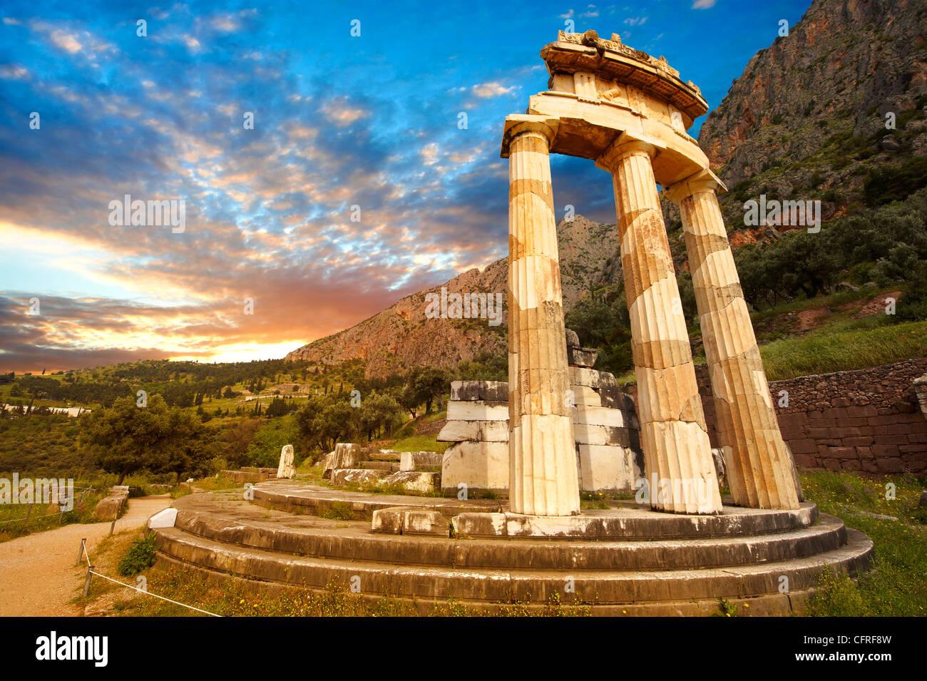 The Tholos at the sanctuary of Athena Pronaia, a circular ...
