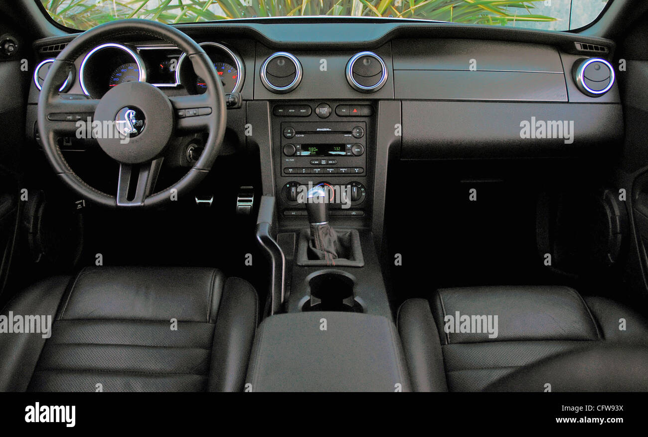 2007 mustang gt500 interior 2007 ford mustang shelby gt500 - Interior 2007 Ford Shelby Gt500 Mustang Cobra Coupe Stock Image